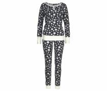 Pyjama mit Allover Sternenprint