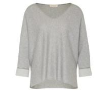 Pullover im Oversized-Format hellgrau