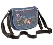 Tasche mit verstellbarem Trageriemen blue denim / dunkelbraun / mischfarben