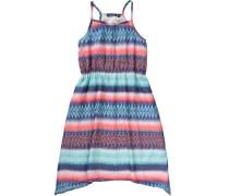 Kinder Jerseykleid blau / türkis / koralle