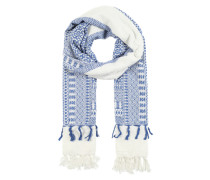 Großer Schal blau / weiß