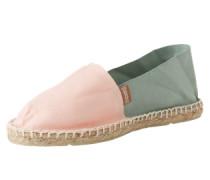 Espadrilles mit gummierter Sohle 'Classic' grün / pink