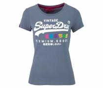 T-Shirt 'Premium Goods Rainbow' rauchblau / mischfarben