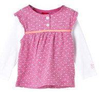 Langarmshirt im 2-in-1-Look pink