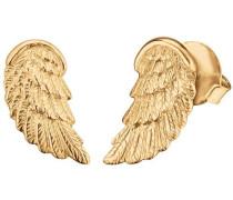 Paar Ohrstecker 'Flügel Ere-Wing-Stg' gold