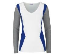 V-Ausschnitt-Pullover mischfarben