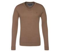 V-Neck Pullover braun