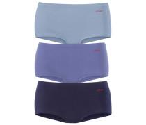 Baumwoll-Panty (3 Stück) blau / royalblau / hellblau