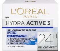 'Hydra Active 3 Nacht' Gesichtspflege rosa / weiß
