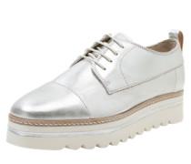 Sneaker mit Metallic-Finish silber