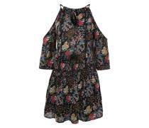 Kleid mit Allover-Print mischfarben / schwarz