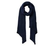 Langer weicher gestrickter Schal blau