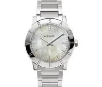 Schweizer Uhr 'Acron Vqa080017' silbergrau