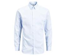 Langarmhemd bügelfreie blau