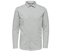 Poloshirt Regular Fit graumeliert