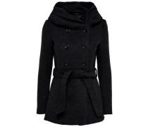 Mantel Woll- schwarz