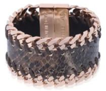'leather gourmet' bracelet braun / gold