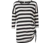3/4-Arm-Shirt schwarz / offwhite