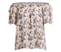 Off-Shoulder-Bluse 'vijuliett Off-Shoulder Top' rosa