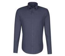 City-Hemd 'Tailored' dunkelblau