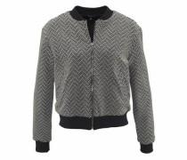 Blousonjacke grau / schwarz / weiß