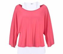Strandshirt pink / weiß