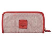 'Fiore di Loto' Geldbörse Leder 21 cm rot