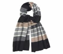 Modeschal hellbraun / grau / schwarz / weiß