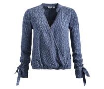 Bluse 'nektarina' blau / himmelblau