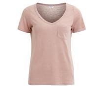 Schlichtes T-Shirt altrosa