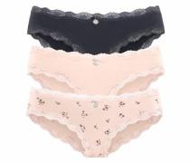 Bikinislips (3 Stück) anthrazit / rosa