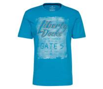 T-Shirt 'placement' blau
