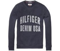 Sweatshirt 'thdm Basic RIB CN Hknit L/S 11' blau
