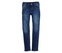 Jeans mit Farbakzenten blau