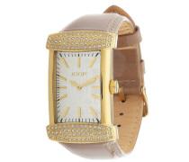 Armbanduhr Glam Jp100552F07 dunkelbeige / gold