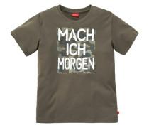 """T-Shirt """"Mach ich morgen"""" für Jungen braun"""