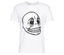 T-Shirt mit Front-Print weiß