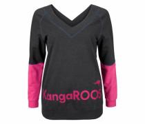 Sweatshirt anthrazit / pink