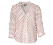 Bluse Organic Cotton hellrot / weiß
