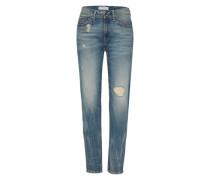 'Midge Saddle' Boyfriend Jeans blue denim
