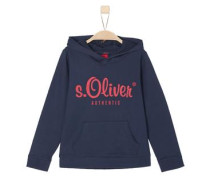 s.Oliver Authentic - Sweat-Hoodie nachtblau / rot