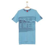 Shirt mit Frontprint hellblau