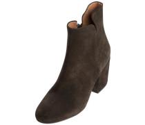 Veloursleder-Stiefel mokka
