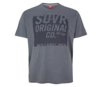 T-Shirt mit Unicolor-Print grau / dunkelgrau