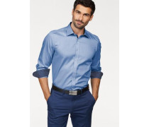 Businesshemd 'Level Five body fit' blau