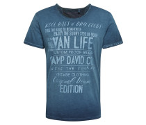T-Shirt dunkelblau / rauchblau