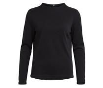 Stehkragen-Bluse schwarz