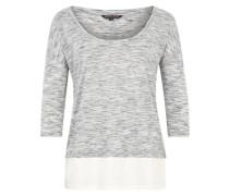 Shirt 'Doppelter Boden' grau / weiß