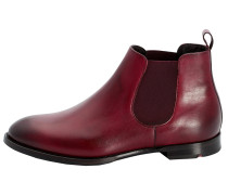 Chelsea Boots mit Gummizug rot