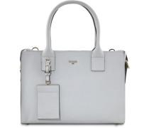'Miranda' Handtasche Leder 31 cm grau